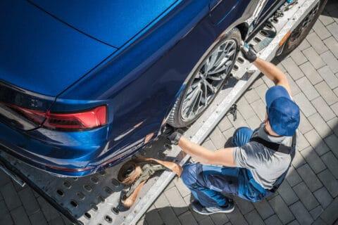 Šlepanje novih automobila